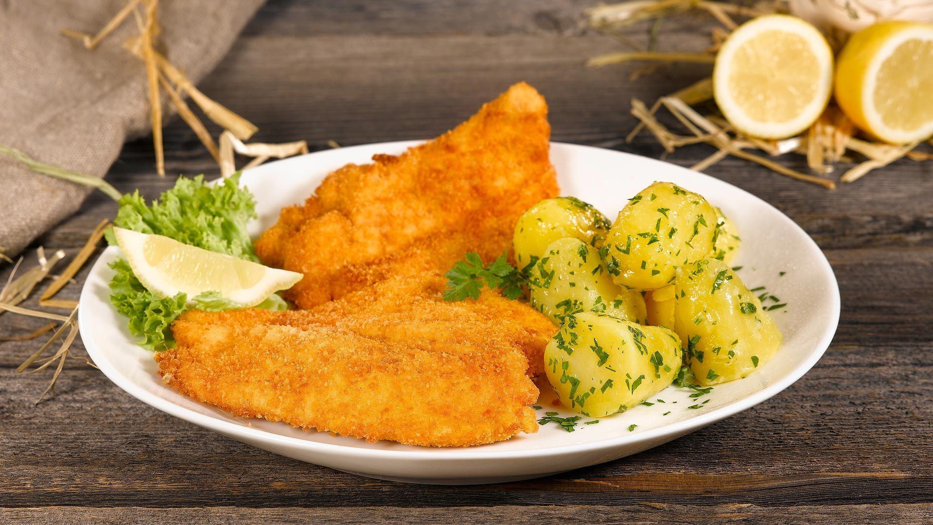 Chickis Hühnerschnitzel mit Petersilienkartoffel
