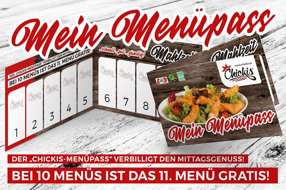Chickis Menü Stempelpass