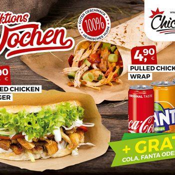 Pulled Chicken Burger Aktion