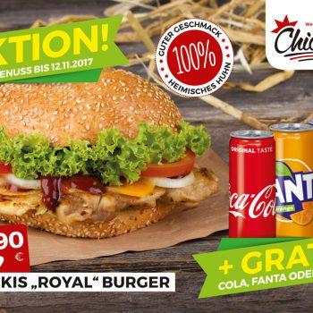 Chickis Royal-Burger Aktion