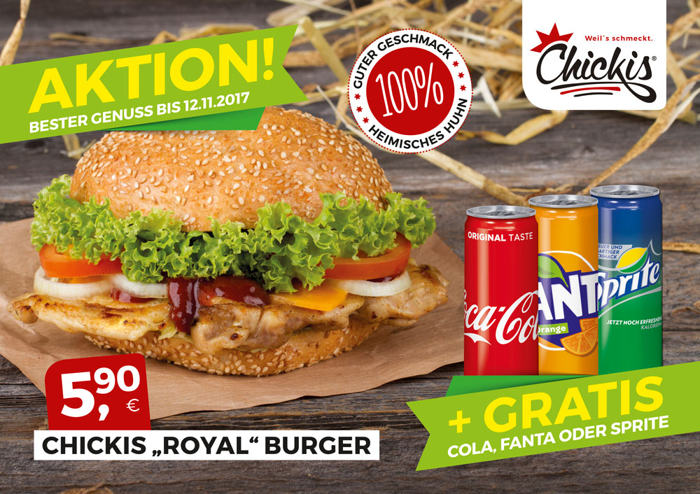 Chickis Royal-Burger Aktion