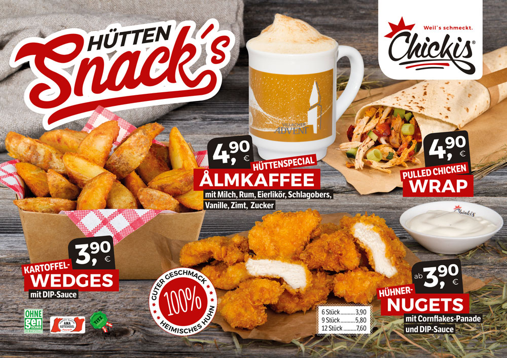 Chickis Hütten Snacks