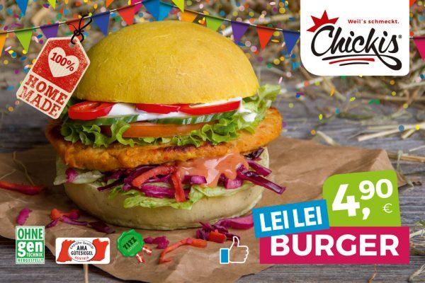 Chickis Lei Lei Burger